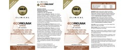 Etiqueta original del bote de Ecoreuma Ativo Goldnutrition Clinical (Reumaplus)