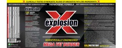 Etiqueta original del bote de Extreme Cut Explosion Goldnutrition