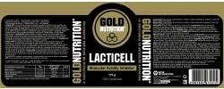 Etiqueta original del bote de Lacticell Goldnutrition