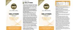 Etiqueta original del bote de Melatonina GoldNutrition Clinical