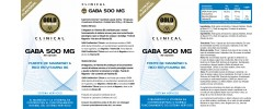 Etiqueta original del bote de Gaba GoldNutrition Clinical