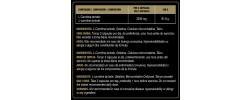 Etiqueta original del bote de L-Carnitina Goldnutrition
