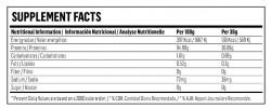 Etiqueta original del bote de Isolate CFM Hypertrophy
